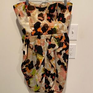 Jessica Simpson strapless printed dress